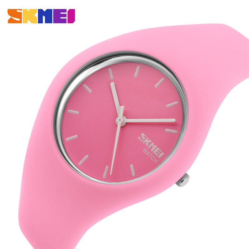 SKMEI Fashion Casual Quartz Watch Women Men Watches Montre Femme Reloj Mujer Silicone Strap Waterproof Sport Wristwatches 9068