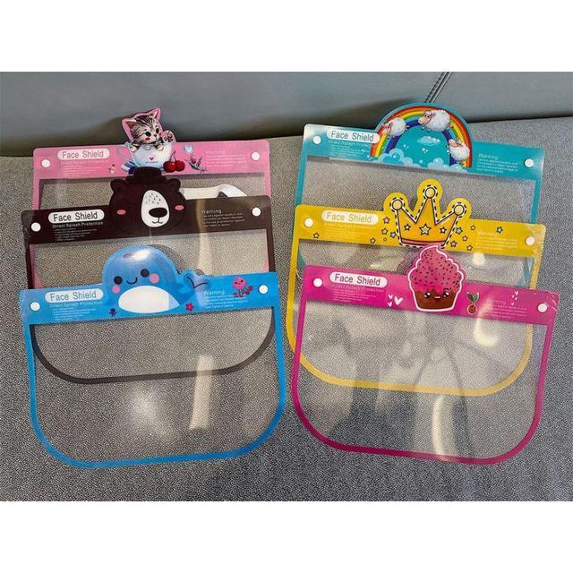 Children Full Face Shield Screen Mask Visor Eye Anti Droplet Prevent Saliva Splash Covering Droplet Transparent Mascarillas 5