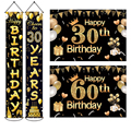 Украшение для вечеринки в честь Дня Рождения для взрослых, праздничное украшение для дня рождения 30, 40, 50, 60, 60, праздничное украшение для взр...