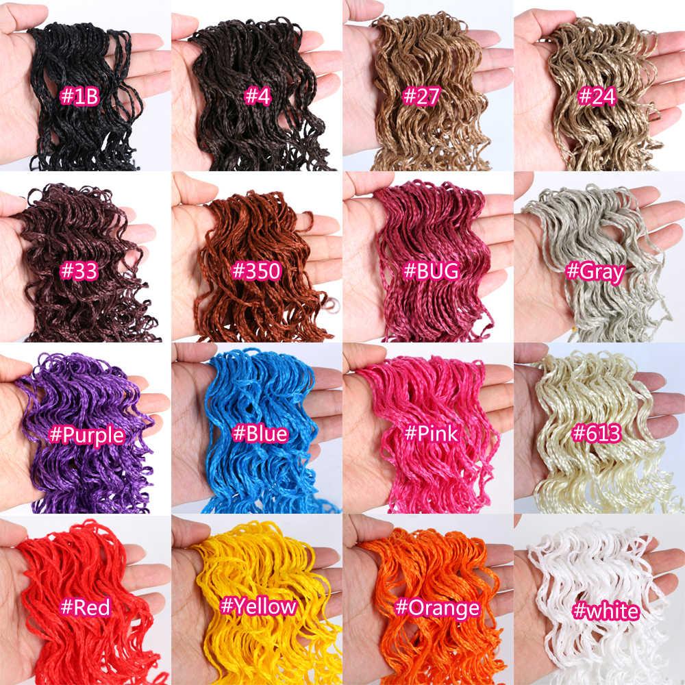 Zizi Vlechten Dunne Micro Haak Doos Vlechten Synthetische Hair Extensions Grijs Paars Roze Blond Bruin Kastanje Gehaakte Haar Eunice