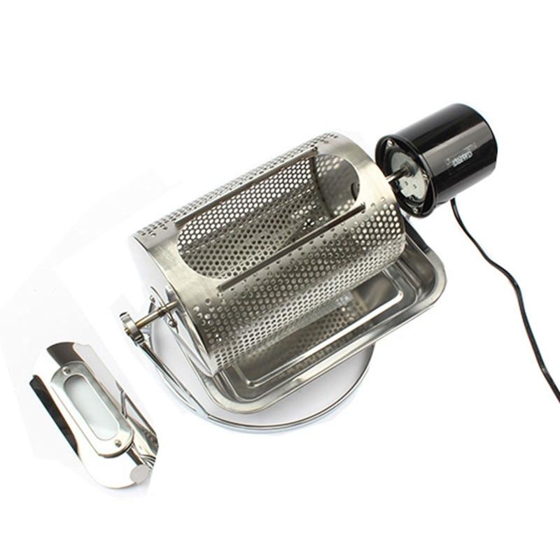 Home use coffee bean roaster machine stainless steel coffee beans roasting machine peanuts nuts 110V 220V 40w EU US BS plug(China)