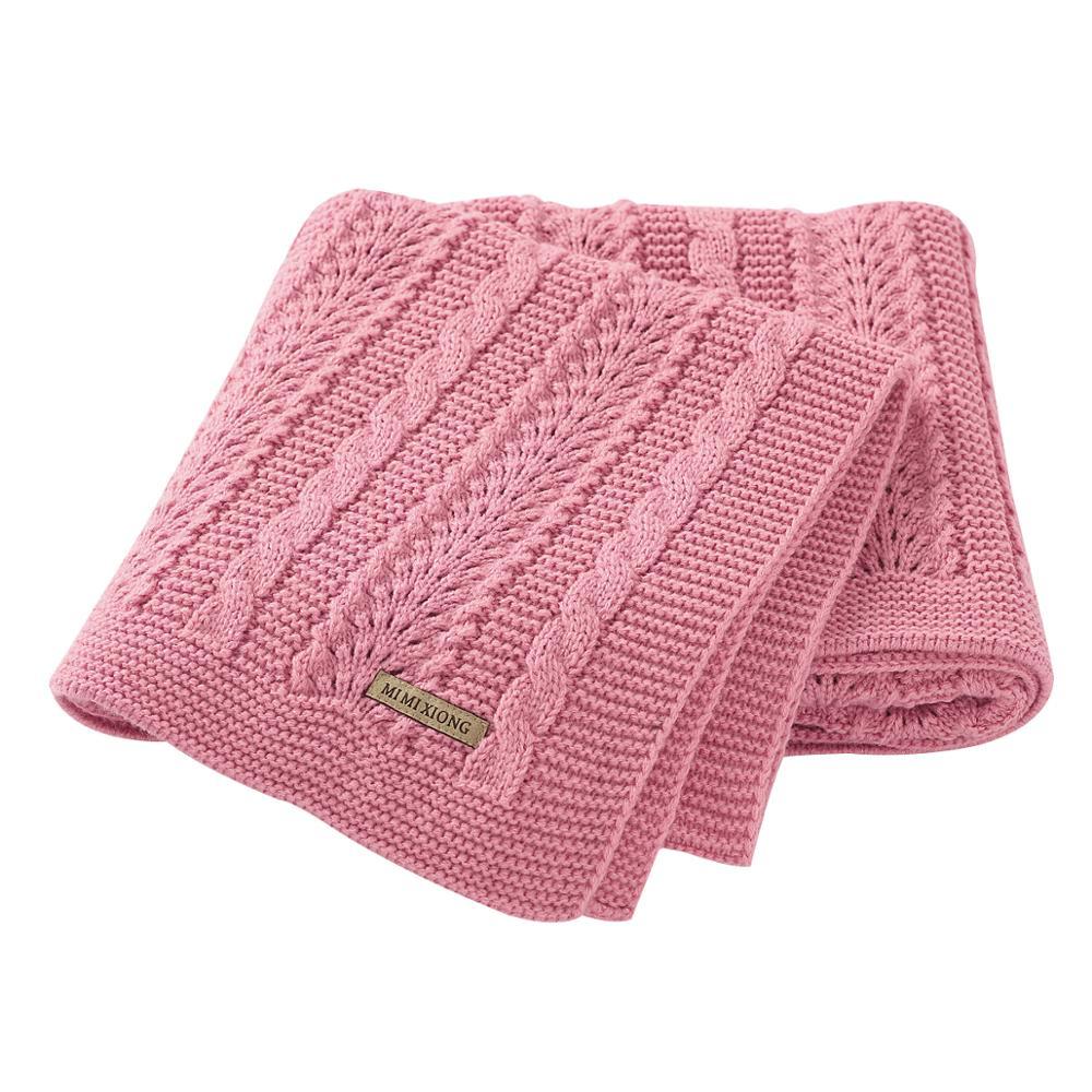 Baby Blankets Swaddle Wrap 100*80cm Solid Newborn Bebes Stroller Bedding Basket Blanket Super Soft Children Knitted Quilts Cover|Blanket & Swaddling| - AliExpress