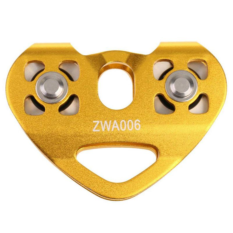 SHGO HOT-30KN Pulley Tandem Pulley Tandem Pulley Pulley For 8-13mm Ropes