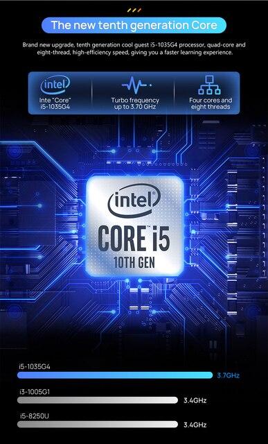 15.6 Inch 10th Gen Intel Core i5-1035G4  Laptop 16GB RAM 512GB SSD Windows 10 Backlit Keyboad Type-C Fingerprint Unlock Computer 3