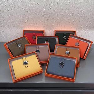 Image 2 - 9 cores de couro genuíno carteiras bolsas moda pequena bolsa de dinheiro luxo mini bolsa de moedas ferrolho design bolsa