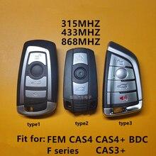 BMW 3 5 7 시리즈 X3 X5 X6 X7 CAS4 CAS4 + CAS3 + FEM BDC 자동차 지능형 원격 키에 대 한 ID49 칩 자동차 키없는 스마트 원격 키