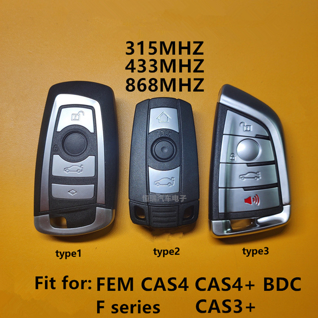 Car Keyless Smart Remote Key with ID49 Chip for BMW 3 5 7 Series X3 X5 X6 X7 CAS4 CAS4+ CAS3+ FEM BDC Car Intelligent Remote Key