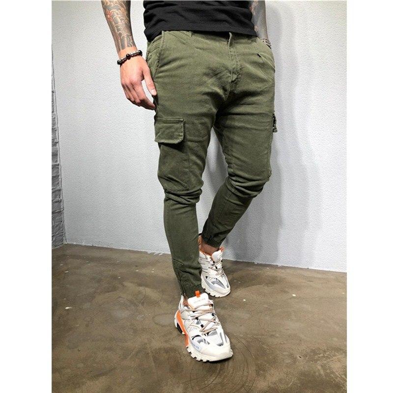 Vogue Men Cargo Short Fashion Baggy Causal Cotton Pants Pleated Trousers Plus SZ