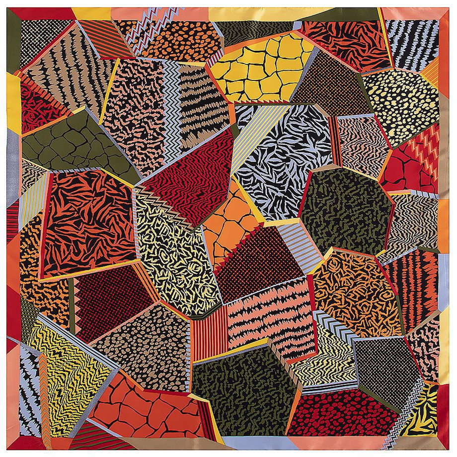 Geometric Matchwork Plaid Brand Scarf 2020 New Winter Scarf Twill Silk Square Scarf Women Kerchief Shawl Scarves For Ladies