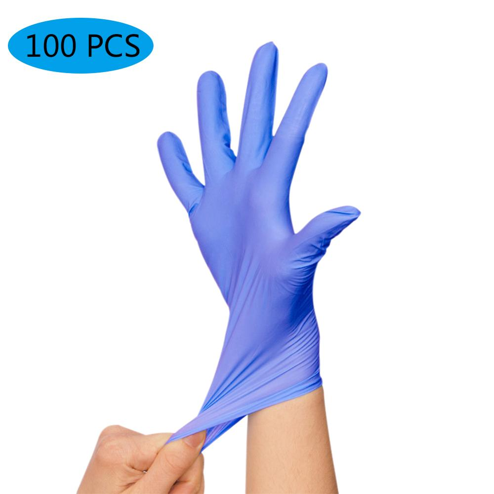 100pcs/set Multifunction Disposable Nitrile Gloves Dustproof Home Garden Gloves Household Cleaning Washing Disposable