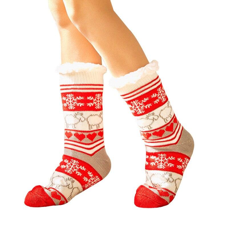OLE Winter Thickened Christmas Home Calzini Floor Sokken Adult Non-slip Shoes Sitokini Warm Carpet Sokken
