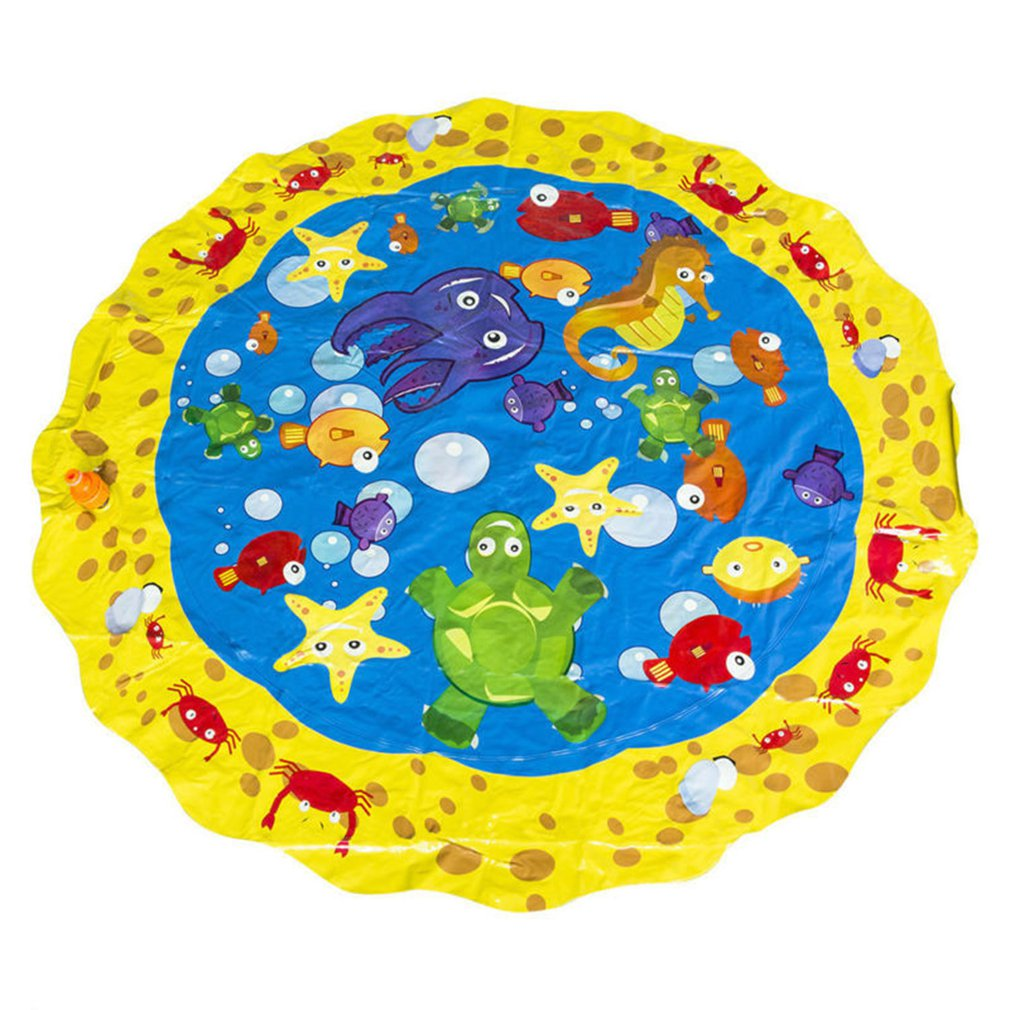 Swimming Pool Baby Wading Kiddie Squirt Fun Pool Outdoor Squirt&splash Water Spray Mat For Lawn Beach Play Game Sprinkler Mat