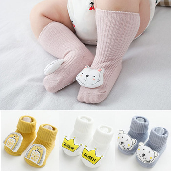 2020 New Baby socks Cartoon Cotton Baby Kids Girls Toddler Knee High socks baby Sock 0-5T cartoon animal baby knee high socks for girls infant fox socks toddler baby girl knee socks lovely totoro cat knee sock s m l