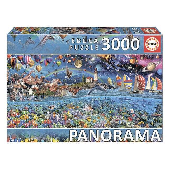 Пазл-панорама Жизнь Educa, 3000 деталей