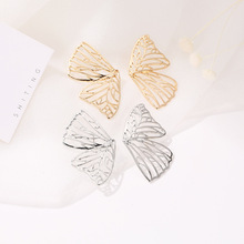 Middle East Trend Fan-shaped Creative Earrings AliExpress Explosions Exaggerated Hollow Butterfly Wings Earrings Stud Earrings ring shaped stud earrings
