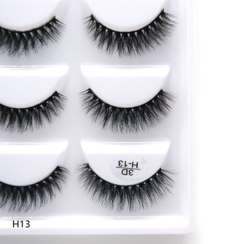 5/50Boxes 100% Real Mink Fake Eyelashes 3D Natural False Eyelashes 3d Mink Lashes Soft Eyelash Extension Makeup Kit Cilio 1