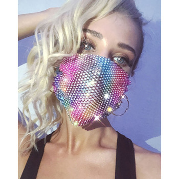 Sequins Face Mouth Mask Anti-dust Haze Flu Respirator Reusable Adult Bling Bling Face Mask Unisex Fashion Breathable Sponge Mask 1