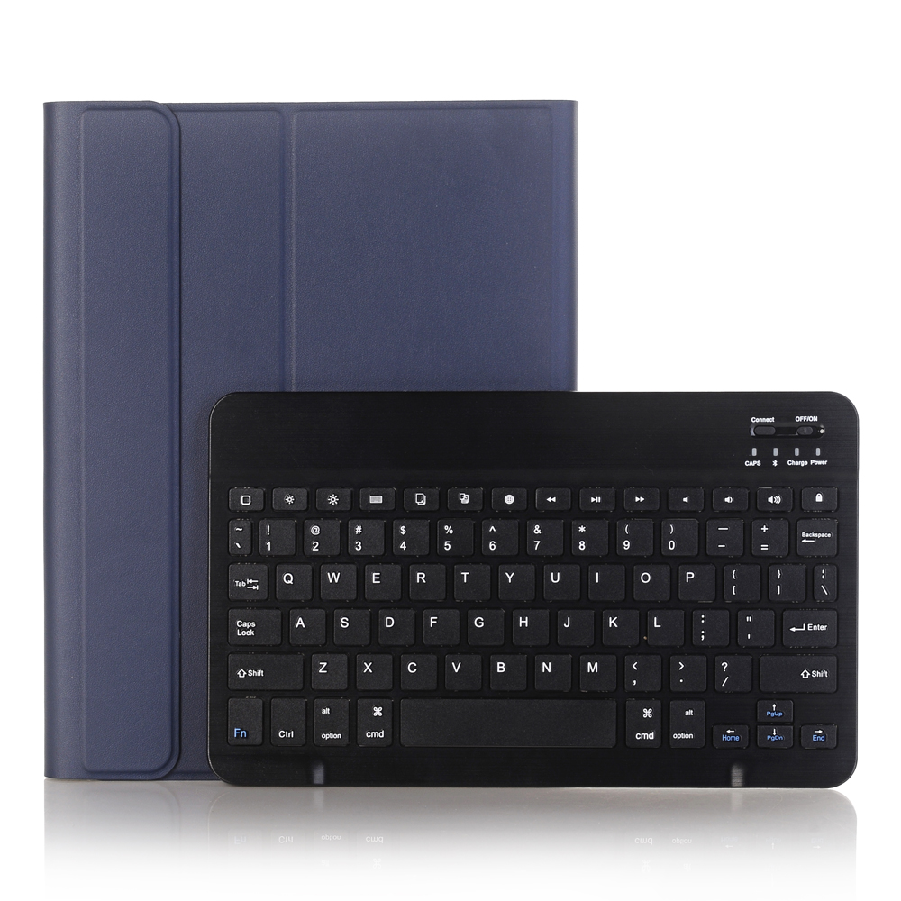 Blue with Black Blue For iPad 10 2 2019 2020 Keyboard Case with Pencil Holder for Apple iPad 7th 8th