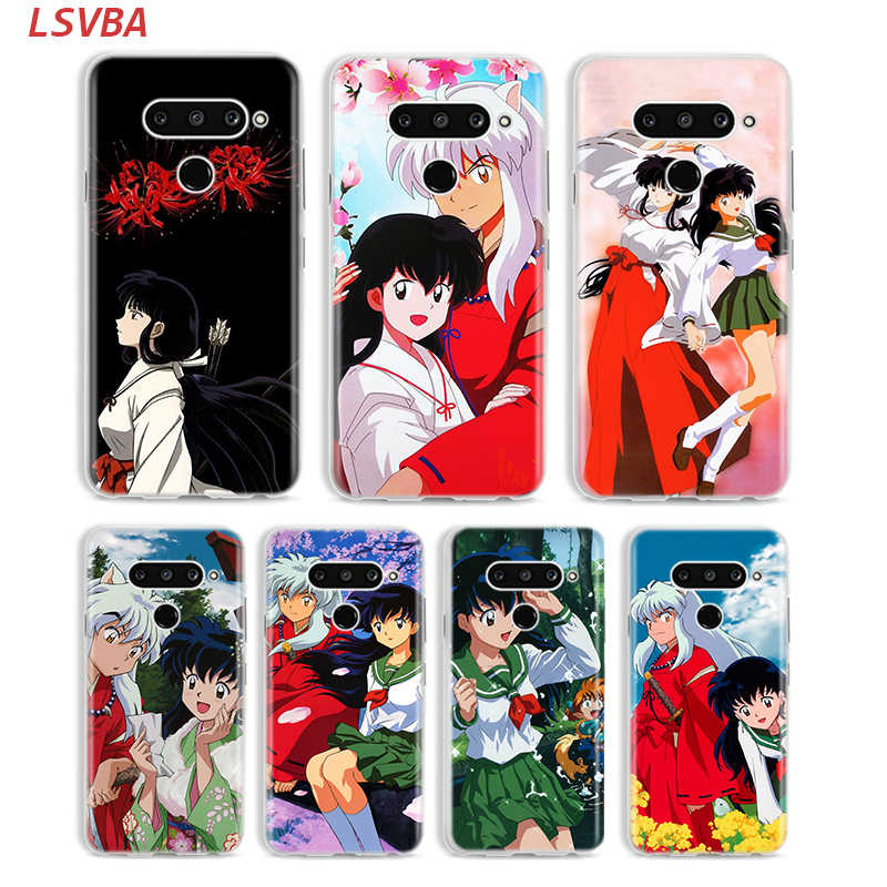 Siliconen Cover Anime Inuyasha Voor Lg W30 W10 V50S V50 V40 V30 K50S K40S K30 K20 Q60 Q8 Q7 Q6 g8 G7 G6 Thinq Telefoon Case