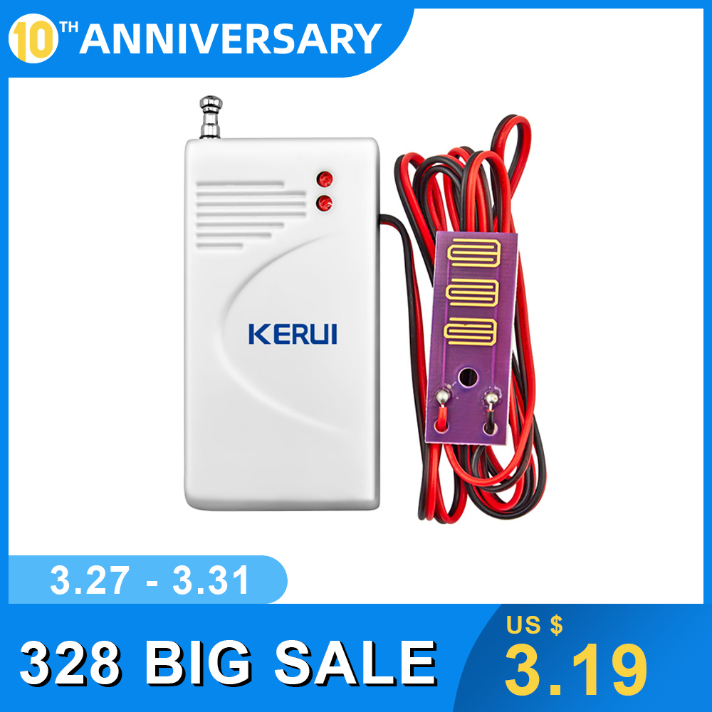 KERUI Hight Quality Wireless Water Leak Sensor For Home Security GSM/PSTN Alarm System 433MHz Alarm Alert Detector System