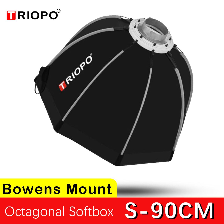 Triopo 90cm K90cm S90cm Photo Portabe Bowens Mount Octagon Umbrella Softbox + Honeycomb Outdoor Soft Box For GODOX Studio Strobe