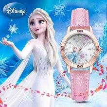 Watch-Clocks Frozen Girls Wrist-Watches Minnie Princess Children Cute Strap Quartz Calendar