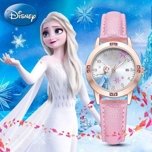 Big Sale Frozen Ⅱ Princess Ladies Calendar Rhinestone Minnie Cute Girls Wrist Watches Children Strap Quartz Lovely Watch Clocks