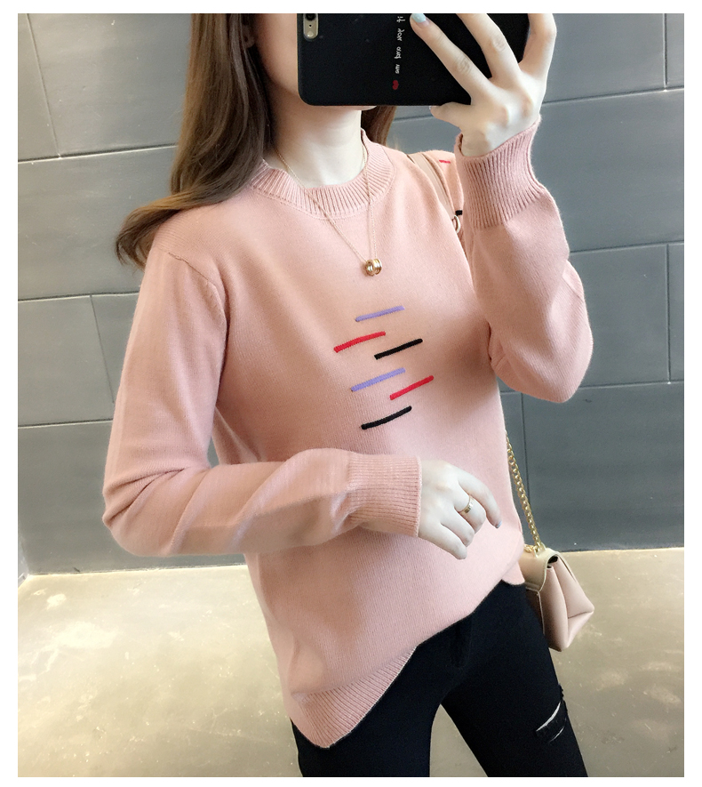 Sweaters women's 19 new fashion Korean loose autumn winter knitting bottoms wear Western clothes 10