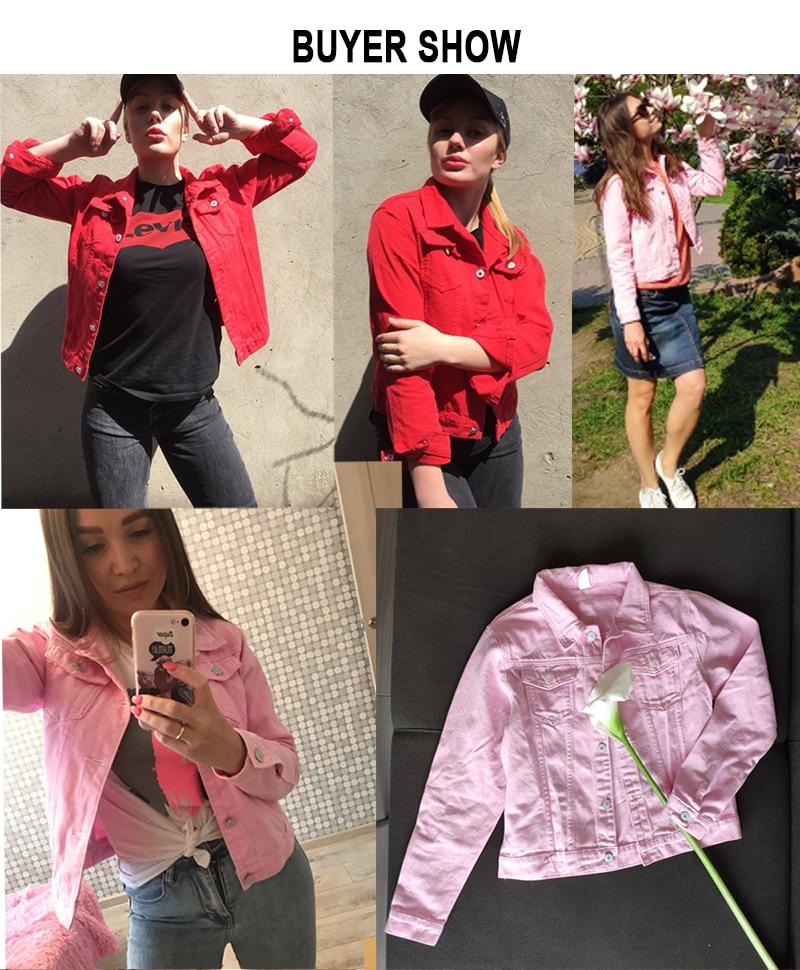 Jeans Jacket and Coats for Women 19 Autumn Candy Color Casual Short Denim Jacket Chaqueta Mujer Casaco Jaqueta Feminina 16