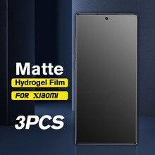 3PCS אין טביעת אצבע מט הידרוג ל סרט לxiaomi Poco X3 פרו NFC F3 הגלובלי גרסה M3 X3pro NFS X 3 מסך מגן רך סרט