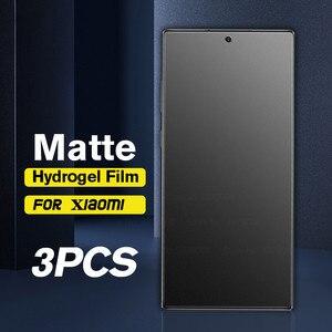 Image 1 - 3PCS אין טביעת אצבע מט הידרוג ל סרט לxiaomi Poco X3 פרו NFC F3 הגלובלי גרסה M3 X3pro NFS X 3 מסך מגן רך סרט