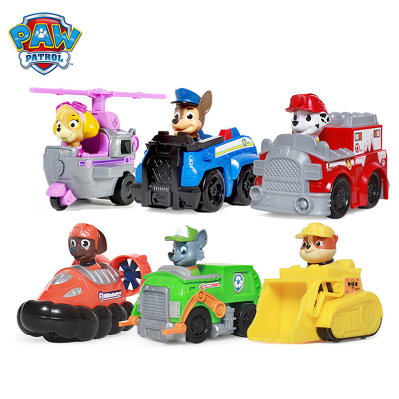 Paw Patrol Dog Genuine Puppy Patrol Toys Car Patrulla Canina Ryder Anime Action Figures 1:55 Diecast Model Car Toy Birthday Gift