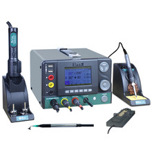 CXG DES – fer à souder électrique, pistolet à Air chaud, Station de soudage, outil de soudage cinq en un, Kit de réparation de téléphones portables H95