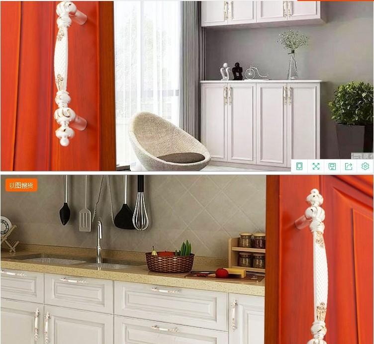 5 3.75 White Gold Dresser Handle Pull Knob Cabinet Drawer Pulls Handles  Kitchen Cabinet Pull Handle Knob Furniture Hardware XM804
