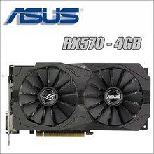 Видеокарта ASUS RX 570 4GB 256Bit GDDR5, видеокарты для AMD RX 500 серии, VGA карты RX570 RX580 580 8G, Дисплей HDMI DVI