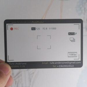 Image 2 - Angepasst Gedruckt Pvc Transparent Visitenkarten Name Karte Matt 100 Ppieces /lot