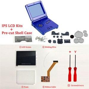 Image 3 - IPS V2 LCD أطقم مع قذيفة ل GBA SP IPS LCD الخلفية الشاشة مع قبل قطع قذيفة ل GBASP وحدة التحكم الإسكان مع أزرار