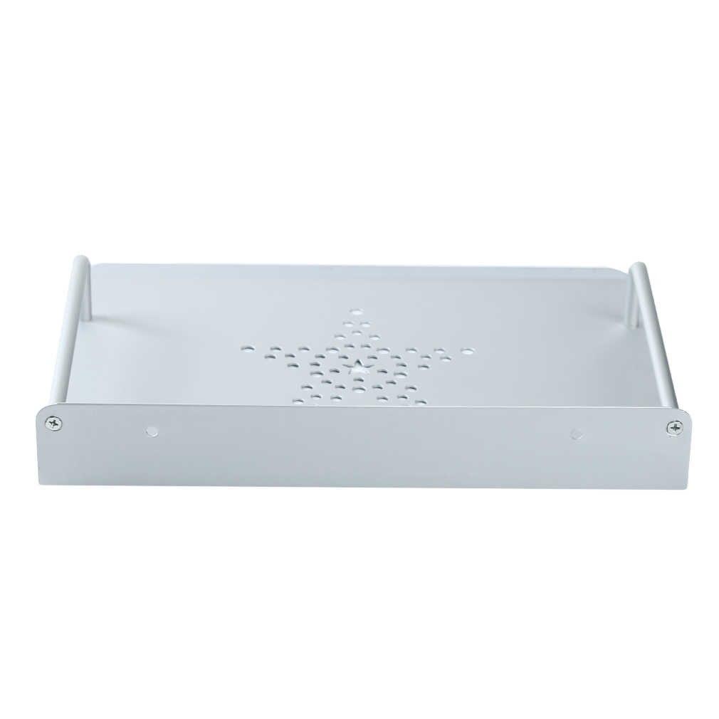 Decodificador enrutador de caja de TV Minireproductor de DVD de una sola capa espacio de aluminio soporte de pared de almacenamiento estante soporte de soporte
