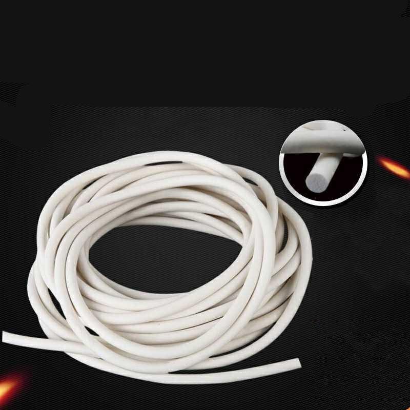 Cordon éponge en Silicone extrudé de haute qualité, tige à mousse en Silicone de 5mm de diamètre, de 10 mètres de long, de couleur blanche