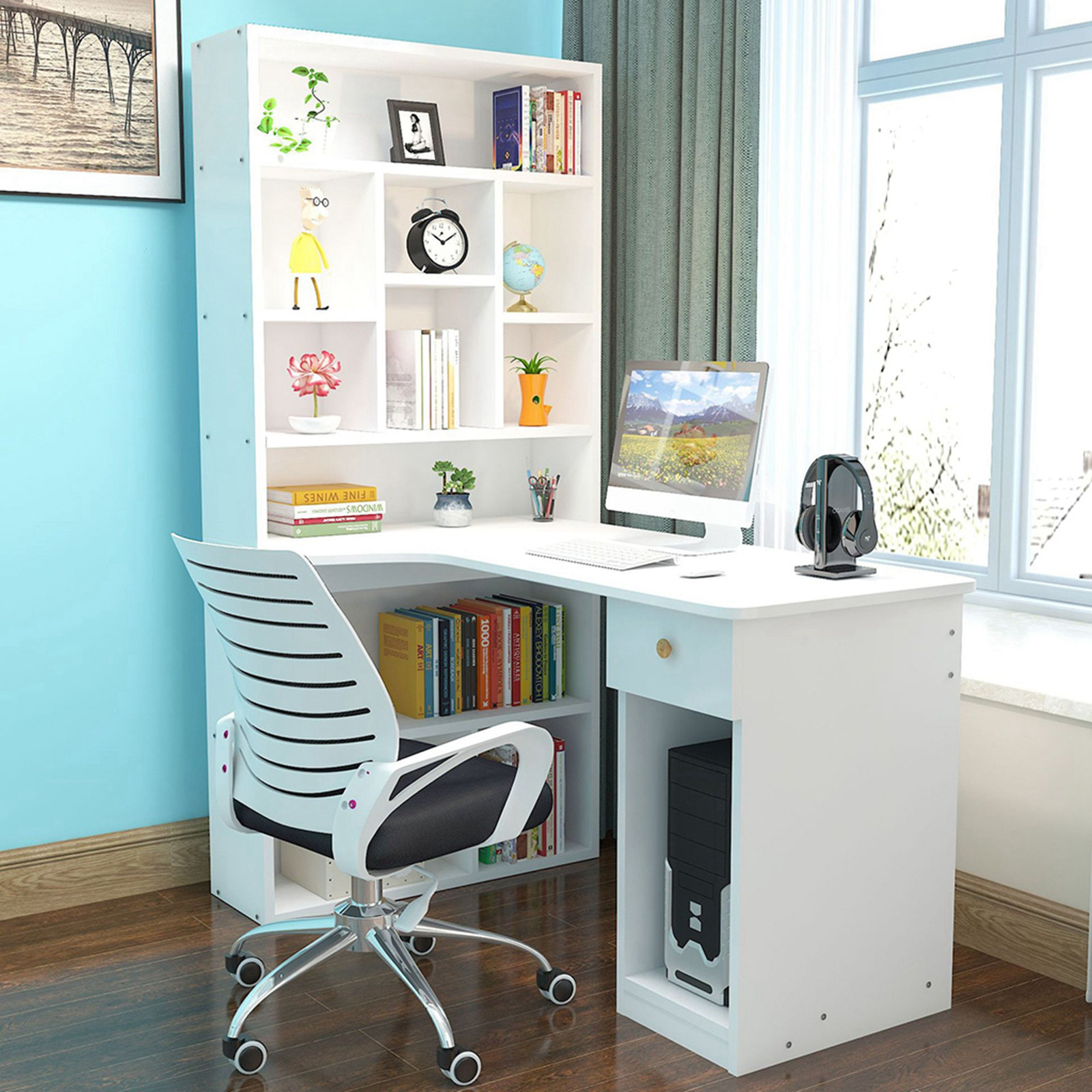 Computer Desk Desktop Desk Bookcase Table Combination Simpleness Furniture Student Writing Desk Подставка Под Ноутбук