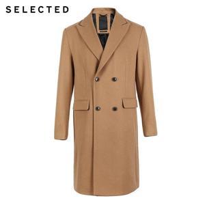 Image 5 - SELECTED Autumn & Winter New Mens Wool Coat Vintage Business Long Woolen Outwear Jacket Coat T