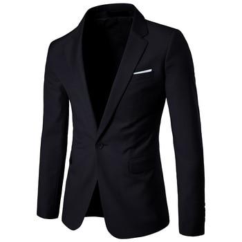 Men's Blazer Suit Jacket Slim Fit Man Leisure Solid Color Suit Fund Youth Small Suit Single Paper Loose Coat Trend Jacket