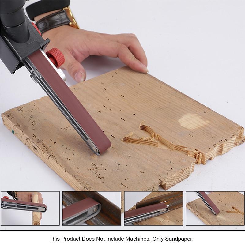 Sanding Belt 60 120 240 400 600 Grit 10pcs 15 15x452mm For M10 Sanding Paper Belt Machine Sander Adapter Polishing Machine
