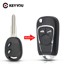 KEYYOU Car Key For Chevrolet Aveo Lova Epica Sail Folding Remote Car Key Case 2 Button Modified Flid Key Shell Left/Right Blade