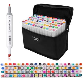 Conjunto de marcadores de arte, rotulador para dibujo, rotulador para bocetos, juego de bolígrafos de 12/30/40/60/80/168 colores para escuela, oficina, suministros de arte