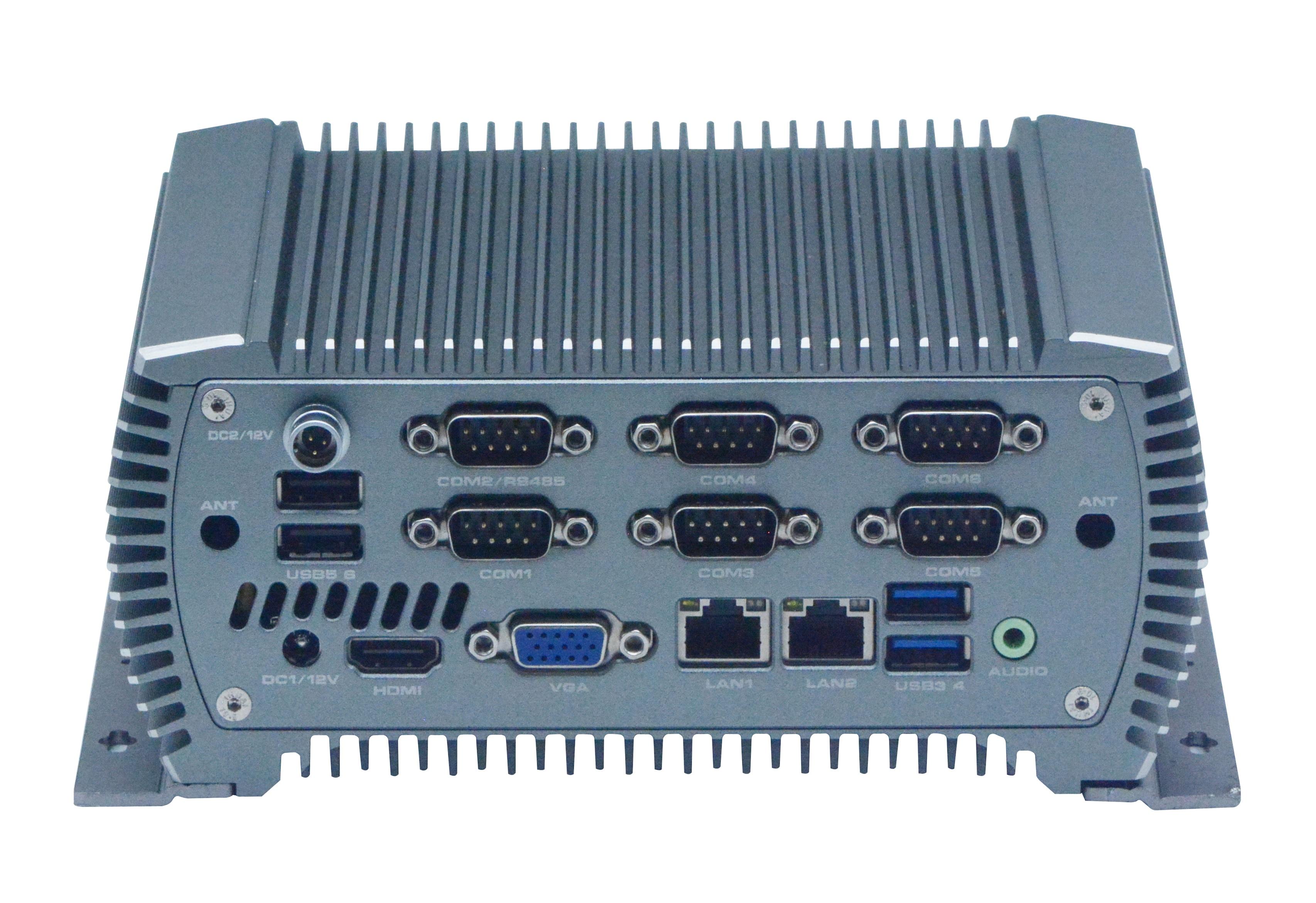 Mini Pc Industrial Fanless Computer I5-6360U 2*LAN 6*USB 6*COM HDMI  GPIO Windows Linux Nettop Fanless Industrial Mini Computer