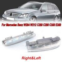 2pcs Automotive Left + Right Bumper DRL Fog Lights Lamps For Mercedes Benz W204 W212 C250 C280 C350 E350 Car LED Light Lamp