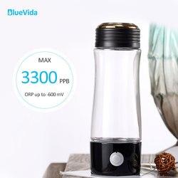 2019 Venta caliente Max 3300PPB generador de agua de hidrógeno de alta concentración con Dupont N324 PEM membrana botella de agua de hidrógeno