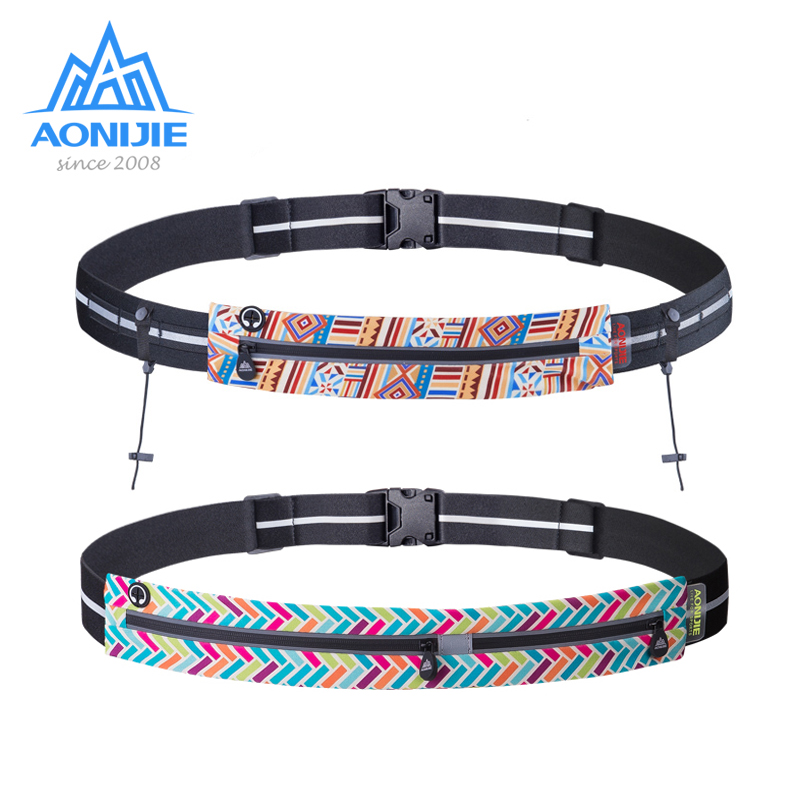 AONIJIE Running Waist Bag Race Number Belt Phone Bib Holder Fanny Pack For Marathon Cycling Travel Fitness Gym W966 W956 W960