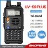 Baofeng UV-S9 플러스 트라이 밴드 10W 높은 전력 휴대용 양방향 라디오 220-260Mhz UV 5R 업 그레 이드 아마추어 라디오 FM 송수신기